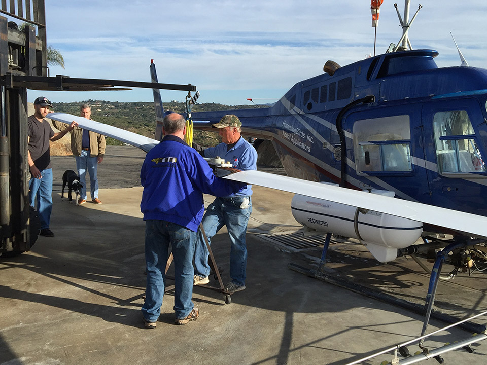 Hummingbird Helicopters Installs First Set of VHA 206B Main
